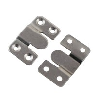 4sets 53x30mm Cold Rolled Steel 2mm Thickness Mirror Painting Hanger 3Type Connector Bracket