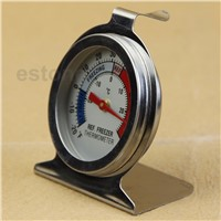 Stainless Thermometer Refrigerator  Freezer Dial Type Stainless Steel APR06_17