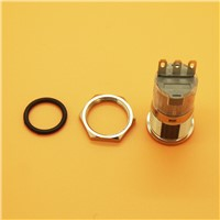1PC 16MM Power button Metal Button Switch 3PIN 250V/5A for Car/Motorbike/Machine/Door Latching /Momentary
