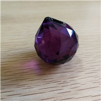 30mm 10pcs Dark Purple glass drop crystal balls crystal glass prism  pendent For crystal window ornaments