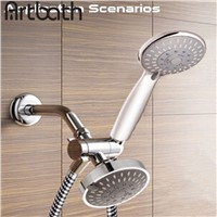 ARTBATH Separator Three Holes Hand hold Shower Holder & Shower Head Shower Arm 3 Way Diverter Faucet Chrome or Brushed Nickel