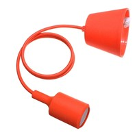 Practical-Orange Silicone E27 Socket Lamp Holder Pendant Lighting DIY Ceiling Light
