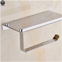 Classic Simple style Stainless Steel Matte Neckel Brushed Finish Wall Mounted Toilet Paper Holder Bathroom Accessories