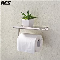 KES SUS 304 Stainless Steel Toilet Paper Holder Storage Bathroom Kitchen Paper Towel Dispenser Wall Mount Brushed Finish