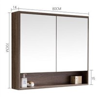 The bathroom mirror cabinet. Hang wall. Type shelf hanging the bathroom lens case.