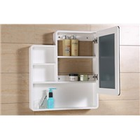 Solid wood bathroom mirror cabinet. Hanging locker bathroom mirror with frame