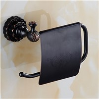 MTTUZK Antique bronze finishing Paper Holder/Roll Holder/Tissue Holder With Carved,Paper Towel Holder Bathroom Accessories