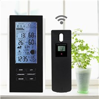 Indoor Outdoor Wireless Weather Station Humidity Temperature Meter Digital Thermometer Hygrometer Barometer Clock Frost Alert