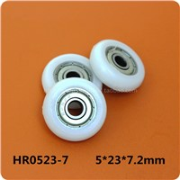 Fixmee 10pc  5*23*7.2mm Plastic coated small pulley 695ZZ Deep Groove Shielded Miniature Ball Bearings