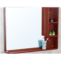 Waterproof bathroom mirror. Solid wood storage mirror. Bathroom cabinet shelf