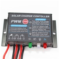 20 pcs/lot Waterproof PWM 10/20A Solar Charge Controller 12V 24V Auto LED Display CE RoHS Solar Panel Regulator for Lighting Use