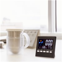 Multifunctional temperature humidity Alarm clock Digital Thermometer Hygrometer Colorful LCD Calendar Vioce-activated Backlight