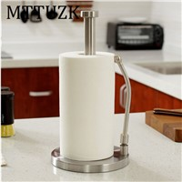 MTTUZK Stainless Steel Sitting Paper Tissue Towel Kitchen Roll Stand Holder For Bath Bathroom dining table Paper Standing Tool