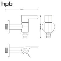 HPB Brass G1/2 G3/4 Bibcock Laundry Utility Faucets Garden Faucet Decorative Outdoor Faucet Washing Machine Connector Tap HP7302