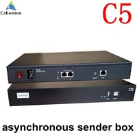 C5 Asynchronous led sending box USB port full color led video display Player sender box 1280*1024 pixels work without computer
