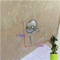 Bathroom wall mounted stainless steel suction paper roll holder rack, Hotel/Kitchen/Living Room paper holders tissue racks