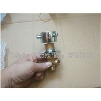 Wholesale 1 Inlet 1 outlet shower room mixing valve, Bathroom brass bathtub 1 way valves cold and hot water switch