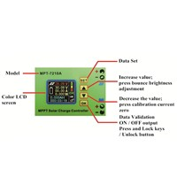 MPT-7210A LCD Display Solar Battery Charge Controller Regulator DC-DC Booster Voltage Ammeter Electrical Tool Accessories