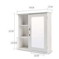 The bathroom mirror cabinet. Camera. Toilet supporter. Stainless steel mirror cabinet