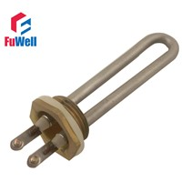 DN25 32MM 1inch Flange Electric Heating Element for Boiler Heater,Hexagonal Head Electric Bolier Heater Pipe 700W 1000W 1500W