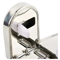 Stainless Steel Bathroom Wall Mounted Toilet Chrome Paper Holder Tissue Box