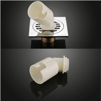 2 PCS  Bathroom Accessory Brass washing Machine Floor Drain Kitchen Drains Waste Water Strainer Chrome