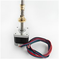 Nema17 stepper motor with T8 screw lead 8mm 300mm 42 motor 42BYGH mill cut cnc engraving machine with T8 Anti Backlash Spring.