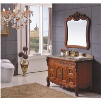 European design Classical Style Solid Rubber Wood Bathroom Cabinet 0281-B-8621