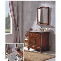 New Design Wood Bathroom Cabinet with Mirror 0281-B-6002