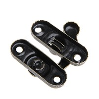 12pcs/lot Cornor Brackets Buckle Antique Decorative Jewelry Wooden Box Hasp Latch Hook With Screws MY25_45