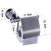 Nickel Brushed Stainless Steel Bathroom Toilet Paper Holder Wall Mount