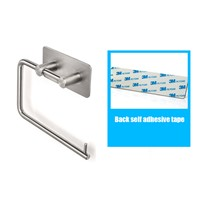 Stainless steel toilet paper holder Bathroom paper towel rack stick force autohesion kitchen wall mounted towel holder
