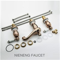 NIENENG mixer retro bathroom faucet three hole vintage 3 holes basin taps faucets accessories wash tap mixers sanitary ICD60207