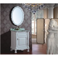 Small Size Antique Style White Color Wooden Bathroom Cabinet  0281-B-8033