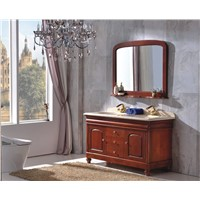 European Style Antique Wood Bathroom Cabinet with Tops 0281-B-6001