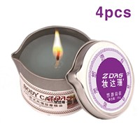 4 Massage Relaxation SPA Erotic solid oil aromatherapy candles balm Fun plolicy candle flirt aphrodisiac rose queen Excited