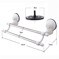 New Dual Layer Suction Towel Rack Mayitr Stainless Steel Wall Mount Bathroom Towel Holder Rack Rail Shelf Bathroom Accessories