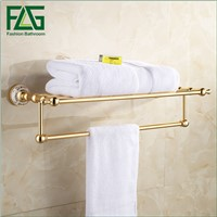 FLG High Quality Space aluminum oxidation Bath towel rack Wall Mount Bathroom Accessories fixed Towel Rack