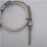 High-quality  PT100 probe 2m RTD Cable Stainless Probe 100mm 3 Wires Temperature Sensor -50 C to + 400 C  Thermocouple  5x35x2m
