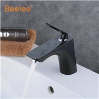 Oil Rubbed Bronze Single Handle Deck Mounted Bathroom Basin Sink Faucets 1 Hole Hot Cold Black Color Mixer Taps with Deck Plate
