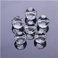 500pcs/bag 10mm 32Faceted ball chandelier accessories Glass Beads Loose Spacer Bead for diy wedding dress decoration