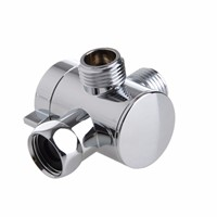 1/2 Inch 3 Way T-adapter Valve For Toilet Bidet Shower Head Diverter Valve New