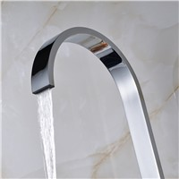 Chrome Bathroom Sense Faucet Automatic Hand Touch Tap Hot Cold Mixer Battery Power Mixer Tap