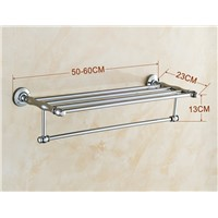 Chrome Polished Bathroom Towel Rack Towel Bar Towel Shelf Bathroom Accessories Wall Mount