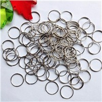 100pcs/lot 12mm chrome Stainless Steel Rings Crystal Chandelier Ball Parts Bead Curtain Accessories Connecting Octagon Beads