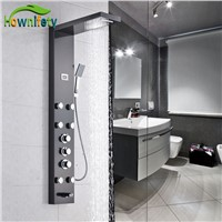 Luxury Thermostatic Bathroom Shower Panel Three Handles Shower Column with Hand Shower Oil Rubbed Bronze