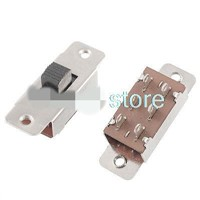 5 Pcs On/Off/On 3 Position 2P3T PCB Panel Slide Switch 6A/125V 3A/250V AC 6 Pins SS-23F19