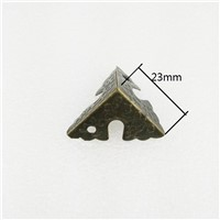 Bulk Luggage Case Box Corner Brackets Decorative Corner For Furniture Decoration Triangular Rattan Carved Bronze Tone 25mm,