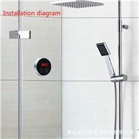 Mixed water Controller  Mixing Water Temperature Thermostatic Mixing Controller  digital LCD Touch