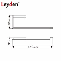 Leyden Toilet Paper Holder Square Dispenser Wall Mounted Lavatory Modern Stainless Steel Brushed Nickel Bathroom Accessories